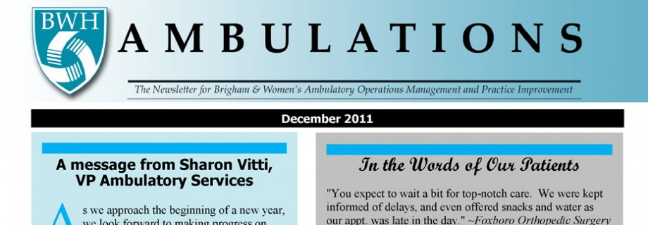 The Brigham and Womens' Hospital Ambulatory Newsletter