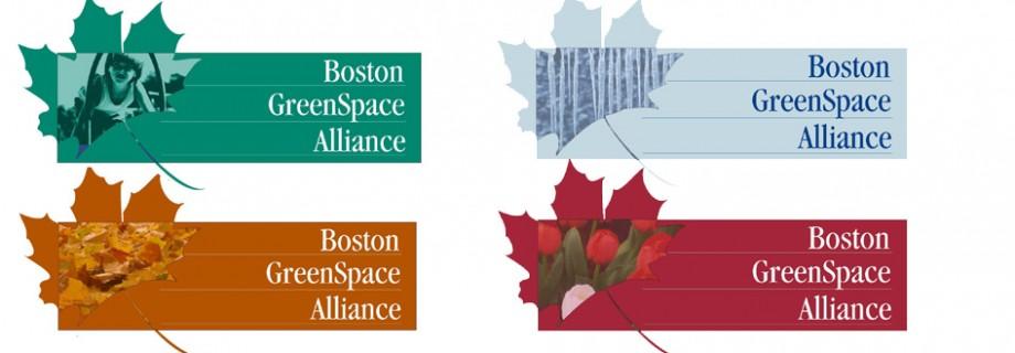Seasonal logos for The Boston Greenspace Alliance